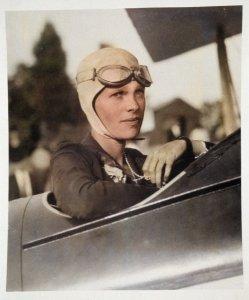- American Photographer - Amelia Earhart (1897-1937) in Boston training plane 1926 - (Meister...jpg