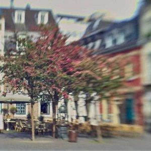 an einem Samstag in der Früh in Aachen