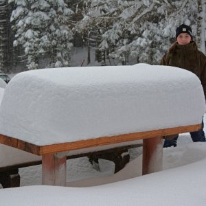 Die 70 cm Schnee hätten wir geschafft.