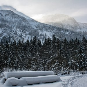 Die Ruhe vor dem Schneesturm.