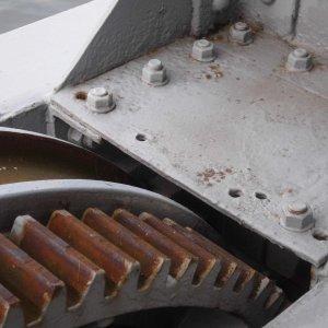 Zahnrad eines alten Hafenkrans
