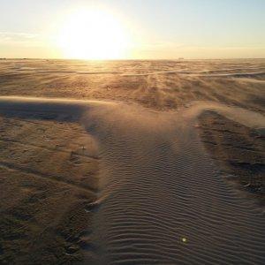 Wind auf Borkum , Konstrukteur der Dünen