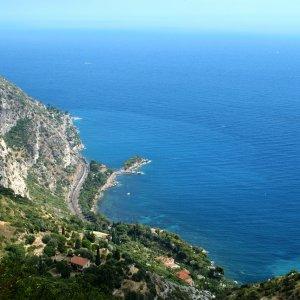 Moyenne Corniche an der Côte d'Azur