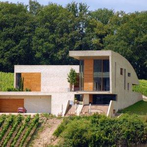 Moderne Architektur im Weinberg