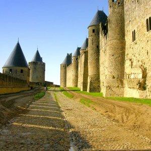 Mittelalterliche Burganlage Carcassonne/Frankr. (Ausschnitt)