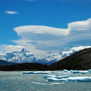 Schwimmende Eisberge