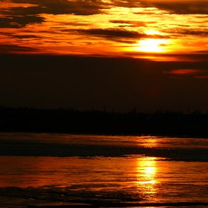 Sonnenuntergang Wattenmeer1