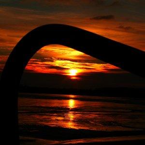 Sonnenuntergang Wattenmeer2