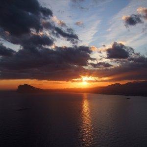 Sonnenuntergang über Benidorm