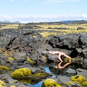 Nude on Iceland