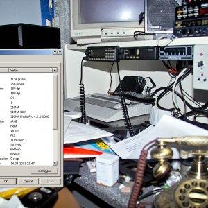 testbild mit altem systemblitz von metz und SD9