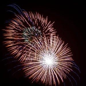 Feuerwerk vom Wohnzimmer aus...
