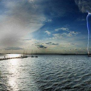 Das Steinhuder Meer, am 23,06,2012 Schlimmes gewitter
