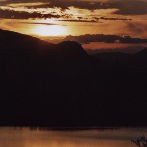 Sonnenuntergang im Fjäll