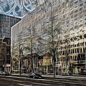 City am Tag und Nacht