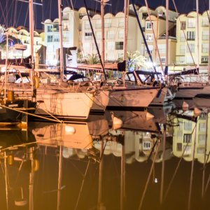 Nacht im Hafen
