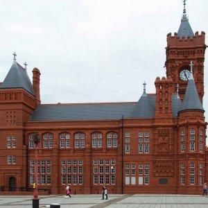 Hafengebäude in Cardiff